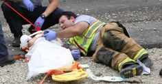 Boy Injured During Car Wreck, What Firefighter Does Next Has Photo Going Viral