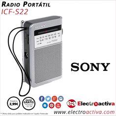 ¡Se lleva lo Retro! Radio Portátil Compacta SONY ICFS22 http://www.electroactiva.com/sony-radio-portatil-compacta-icf-s22.html #Elmejorprecio #Radio #Electronica #PymesUnidas