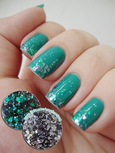 Everything About Fashion Today!: How to Ombre Glitter, Nail Art Ideas