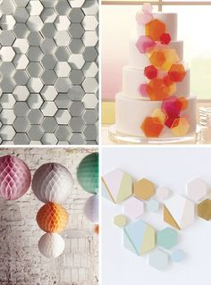 textured/modern honeycomb patterns