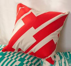 Hand silkscreened pillow cover