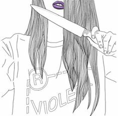 🔪🔫😈👿The kiler 👿😈🔪🔫💣💉💊🚬 Tumblr Girl Drawing, Girl Drawing Sketches, Tumblr Drawings, Cool Sketches, Tumblr Outline, Outline Art, Outline Drawings, Cool Drawings, B&w Tumblr