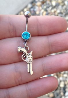 Pistol Belly Ring Gun Belly Ring Country Girl Silver Gun Miranda Lambert Jewelry Western Cowgirl Country