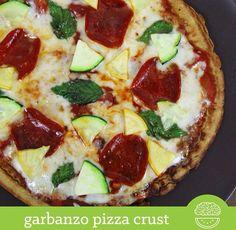 Garbanzo pizza crust: http://instagram.com/p/rjzD_BQAnC/