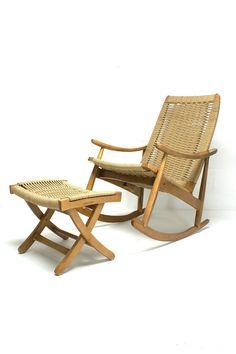 DANISH MODERN ROCKING CHAIR $695 - Waterford http://furnishly.com/catalog/product/view/id/3033/s/danish-modern-rocking-chair/
