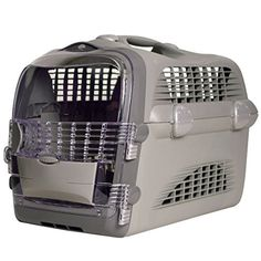 CATIT Transportbox Cabrio - Grau-Grau, Hundebox, Katzenbox