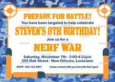 Nerf piata Kids party Pinterest Nerf