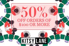 ANOTHER GREAT SALE FROM WWW.SWEETSERENITYBYJOY.KITSYLANE.COM 50% OFF....SO HURRY AND GET YOUR FAVORITE STYLES TODAY!!!!