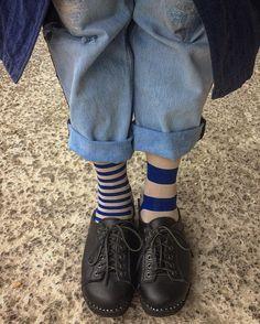 Lebowski clogs with striped socks