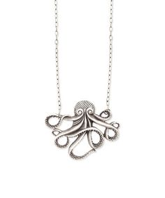 Take a look at this Antique Silver Octopus Pendant Necklace on zulily today!