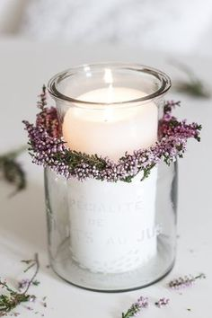 Hygge Ideas Amalie loves Denmark - Heidekranz binden Use the Tabulation of Your Photos You can get the opportunity to embody the photos of your specia. Candle Lanterns, Diy Candles, Scented Candles, Candle Jars, Candle Holders, Dusty Rose Wedding, Wedding Decorations, Table Decorations, Deco Floral