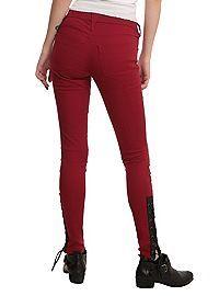 HOTTOPIC.COM - Joan Jett Tripp NYC Red Twill Skinny Jean