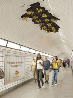 Underground advertisment