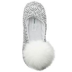 d1dd18a6517 Buy John Lewis Fold Pom Pom Ballet Slippers