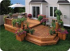 Decks Patio Deck Designs Backyard Backyard Patio The Complete Guide About Multi Level Decks With 27 Design Ideas Two Tier Decks Decks By Size 2 Level Decks Deck Two Tier Deck Traditional Deck Toronto By Castlewood Two Tiered Deck. Backyard Patio Designs, Backyard Landscaping, Patio Ideas, Back Yard Deck Ideas, Pergola Designs, Pergola Ideas, Porch Ideas, Deck Ideas Sloped Yard, Pergola Kits