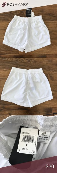 NWT Adidas White Lightweight Shorts Great for tennis or workout. Loose and airy. Smoke free pet friendly  ✅ Bigger Bundle = Bigger Discount! ✅ Reasonable Offers Considered! ✅ Posh Compliant Closet 🚫Trades or Lowball Offers adidas Shorts