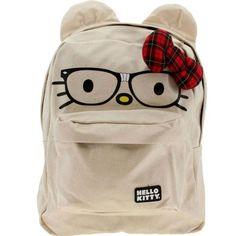 Hello Kitty Nerd Backpack Loungefly Tan 3D Ears « Clothing Impulse