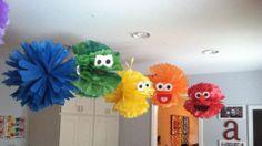 Sesame Street character pom poms