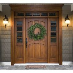 Front Door Paint Colors - Want a quick makeover? Paint your front door a different color. Here a pretty front door color ideas to improve your home's curb appeal and add more style! Wood Front Doors, The Doors, Entrance Doors, Wooden Doors, Windows And Doors, House Entrance, Upvc Windows, Patio Doors, Farmhouse Front Doors