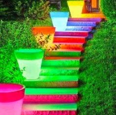 Put the outside lights away and lets light the way with glow paint instead. This project is so beautiful and colorful. Can you imagine seeing...