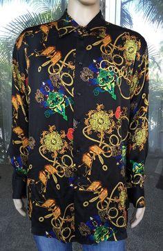 Coogi Men's Casual Shirts Long Sleeved Size 2XL 100 Silk   eBay