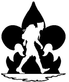 BSA Logo with hiking boy scout