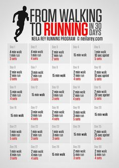 30 day challenges walking to running