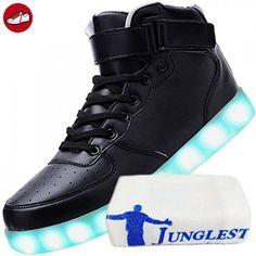 [Present:kleines Handtuch]Schwarz 38 Blinkende Schuhe Light weise Top Neu Sport JUNGLEST Freizeit Led Farbwechsel Leucht rYGNgsr6