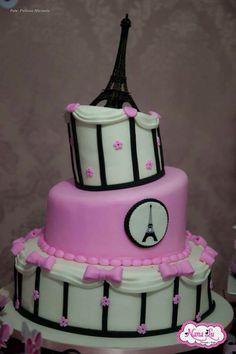 Festa de aniversário decoração tema Paris NanaLu rosa menina (69)9965-0014 personalizados