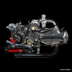 No Vintage moto guzzi dondolino 1946 motorcycle engine, by Gordon Calder Motos Vintage, Vintage Motorcycles, Custom Motorcycles, Cars And Motorcycles, Vintage Bikes, Harley Davidson Engines, Moto Guzzi Motorcycles, Mechanical Art, American Motorcycles