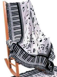 - Music throw blanket. #music #blanket http://www.pinterest.com/TheHitman14/music-paraphernalia/