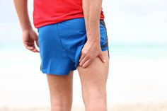 Photo about Running sports injury. Pulled muscle, muscle strain or muscle cramp in back thigh leg of man running outdoors. Image of muscles, cramps, accident - 23507426 Hamstring Pull, Hamstring Muscles, Hamstring Workout, Hamstring Strengthening, Sore Muscles, Muscle Fatigue, Muscle Pain, Muscle Weakness And Fatigue, Hamstring Injury Treatment