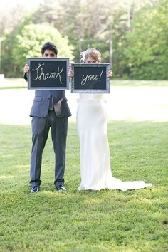 great idea for a thank you card...but would be kissing & holding signs at waist