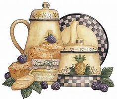 More pictures of Tea Decoupage - Kitchen decor ideas Decoupage Vintage, Vintage Diy, Decoupage Ideas, Illustrations Vintage, Illustration Art, Image Deco, Diy And Crafts, Paper Crafts, 3d Paper