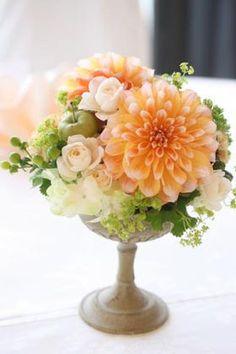 結婚式・披露宴のテーブル装花(イエロー(黄色)系・オレンジ系) - NAVER まとめ