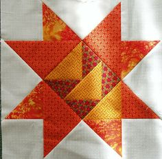 Shooting Star quilt block made by Heather Dawn Pearson from the original pattern in Judy Martin's book, Knockout Blocks & Sampler Quilts. Found on Books and Quilts: Needlework Tuesday - Presidential Quilt Blocks.