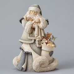 Enesco Foundations Santa With Baby Jesus Masterpiece Figurine traditional-holiday-accents-and-figurines Santa Decorations, Balloon Decorations Party, Santa Figurines, Collectible Figurines, Vintage White Christmas, Christmas China, Merry Christmas, Xmas, Cake Design Inspiration