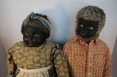 A great pair of black dolls with terrific clothes and lifelike hair, really big…
