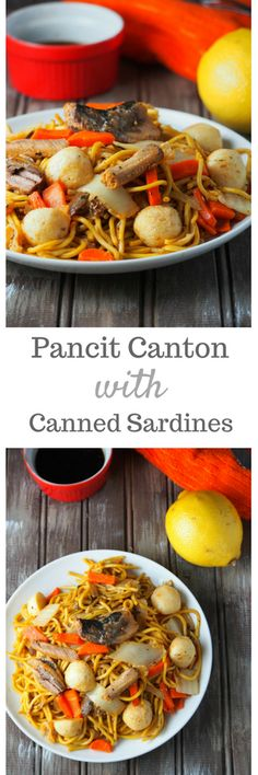 A simple and easy pancit canton recipe that gets its flavor from a can of sardines!