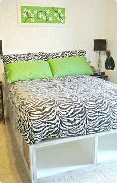 Pottery Barn knock off Stratton storage bed - made following plans from Ana White