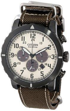 Citizen men watches : Citizen Men's CA4095-04H Military Analog Display Japanese Quartz Brown Watch