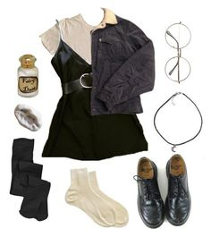 """Untitled #73"" by shenzi-uni ❤ liked on Polyvore featuring James Perse, Levi's, Dollhouse and Dr. Martens"