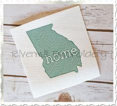 $2.95Sketch Style Georgia Home Machine Embroidery Design