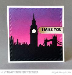 Penguins in Paradise, London Skyline Die-namics - Ardyth Percy-Robb #mftstamps