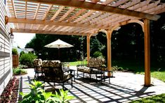 Patio Pergola drawin | ... to the patio was also created, completing the attractive ambiance
