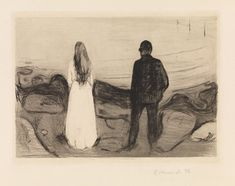Edvard Munch, «Two Human Beings. The Lonely Ones»
