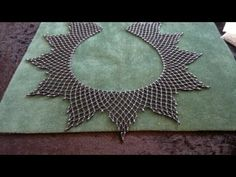 Netted necklace : Increasing and decreasing rows ~ Seed Bead Tutorials