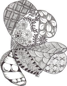 Doodle done in the Doctors waiting room... some patterns from: http://tanglepatterns.com