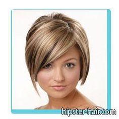 short bob blonde highlights hair  Like this color..