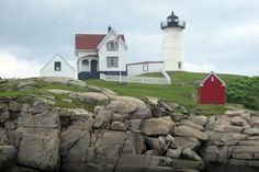 Nubble Light. One of the most photographed lighthouses in Maine.